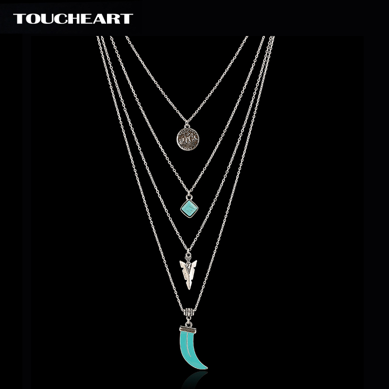 Купить ожерелье с кулоном toucheart тибетский серебристый цвет многослойное