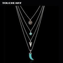 Ожерелье с кулоном toucheart тибетский серебристый цвет многослойное