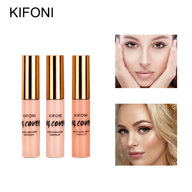 KIMUSE Face Concealer  Perfect Cover Pores Dark Circles Brighten Liquid Concealer Base Primer Cosmetic