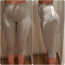 AZUE Womens 3/4 length Slim Leggings Bamboo Fiber Plus Size Capri Legging High Stretchy Pants Basic Workout