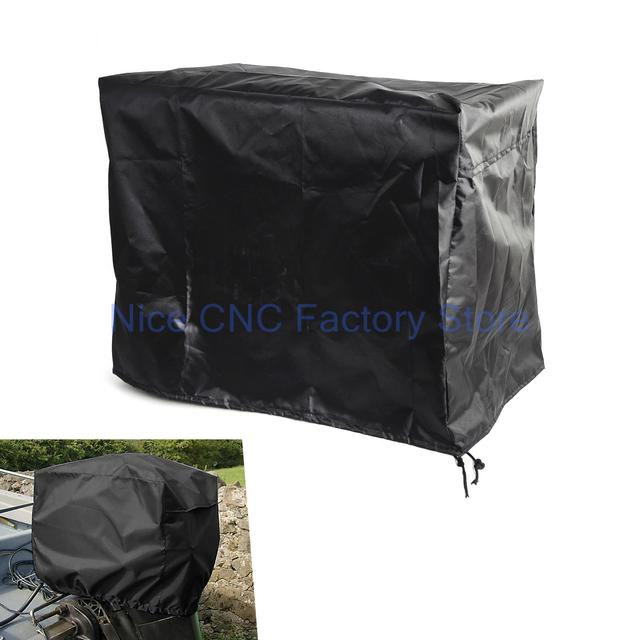 Outboard Motor Boat Engine Cover 30-90 HP  Waterproof Vented Navy Blue