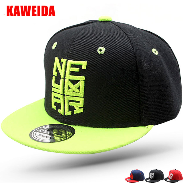 a4970f803154 Neymar Kids Baseball Cap Children Snapback Flat Hats Boys Girls Gorras  Leopard Bone Casquette NY Summer Sun Hat 50 to 54cm E621