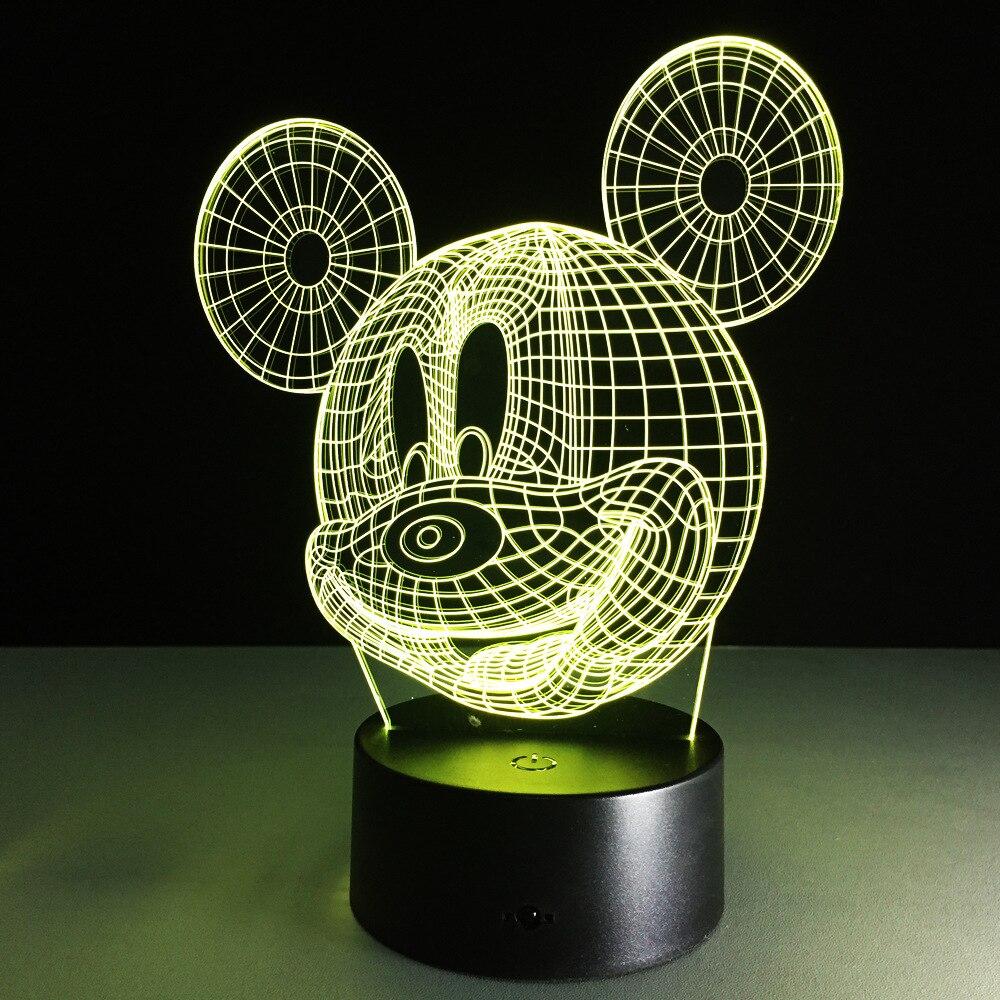 Fun Lamp aliexpress : buy cartoon table lamp with 3d effect led night