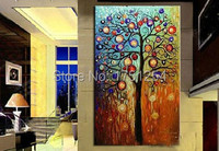 The Wishing Tree Thick Textured American Style 100% Handmade Modern Abstract Canvas Oil Painting Wall Art Sale Price 60x120cm