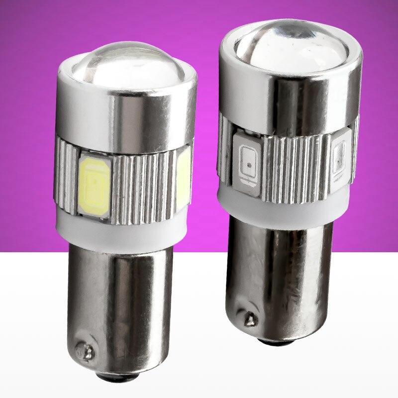 4 Stück T11 T4W BA9S 5730 10 SMD  Lang Linse LED Lampe Fehlerfrei 2 Paar