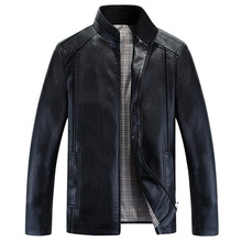 New Men's Slim Leather Jackets Men Stand Collar Coats Male Motorcycle Leather Jacket Casual Brand Clothing Veste Cuir Homme