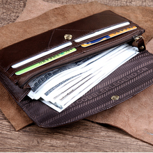 Patchwork Genuine Leather Wallet