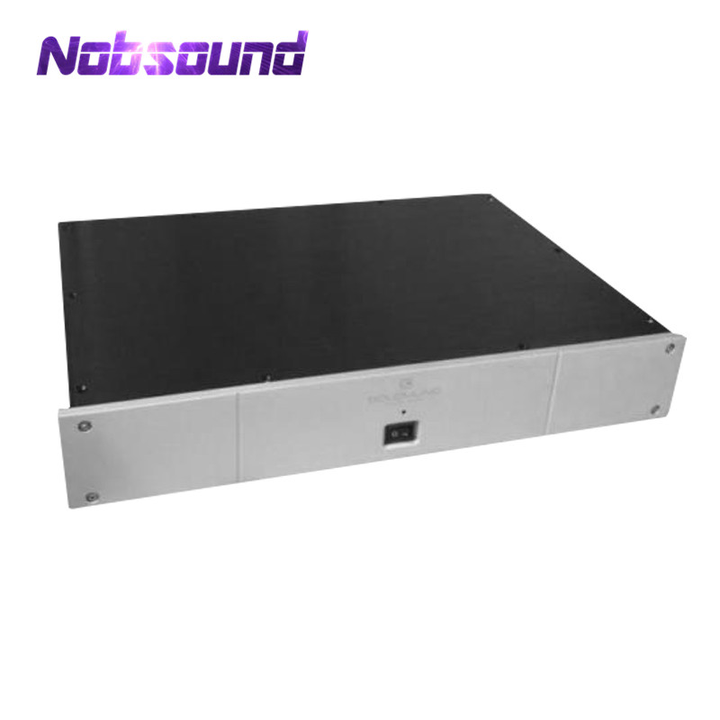 Nobsound White Panel Aluminium Chassis DAC Decoder Enclosure Hi-End DIY Case nobsound hi end audio noise power filter ac line conditioner power purifier universal sockets full aluminum chassis