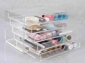 Storage-Case Makeup-Box-Organizer Drawers Cosmetic-Display Acrylic Jewelry Clear Transparent