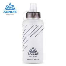 цена на AONIJIE 450ML 500ML Portable TPU Folding Soft Water Bottle Outdoor Sport For Outdoor Marathon Running Hydration Camping Hiking