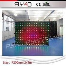 Китай supplie P200mm 2 м по 3 м светодио дный анимации занавес Программируемый дисплей светодио дный видеоэкран