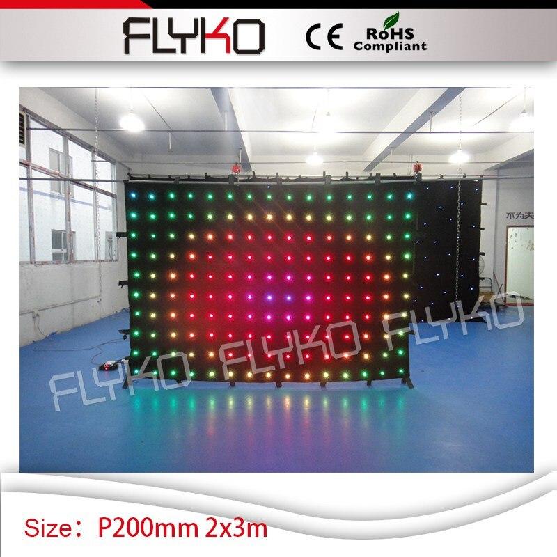 Chine supplie P200mm 2 m par 3 m led rideau d'animation programmable affichage led vidéo rideau