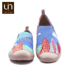 Image 2 - UIN Sandy Strand Design Gemalt Männer Casual Schuhe Atmungsaktiv Slip on Sneakers Trendy Reise Wohnungen Männlichen Faulenzer