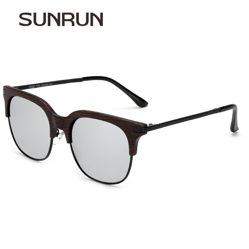 d061e9f3e22b07 SUNRUN Femmes Polarisées lunettes de Soleil Vintage Lunettes de Soleil  Hommes Revêtement Miroir Marque Conception Y9927