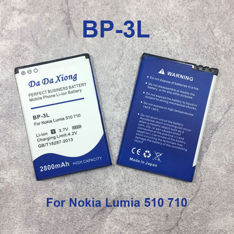 b7b05f47612 Replacement 2800mAh BP3L BP-3L Battery for Nokia Lumia 710 510 603 610C 900  303