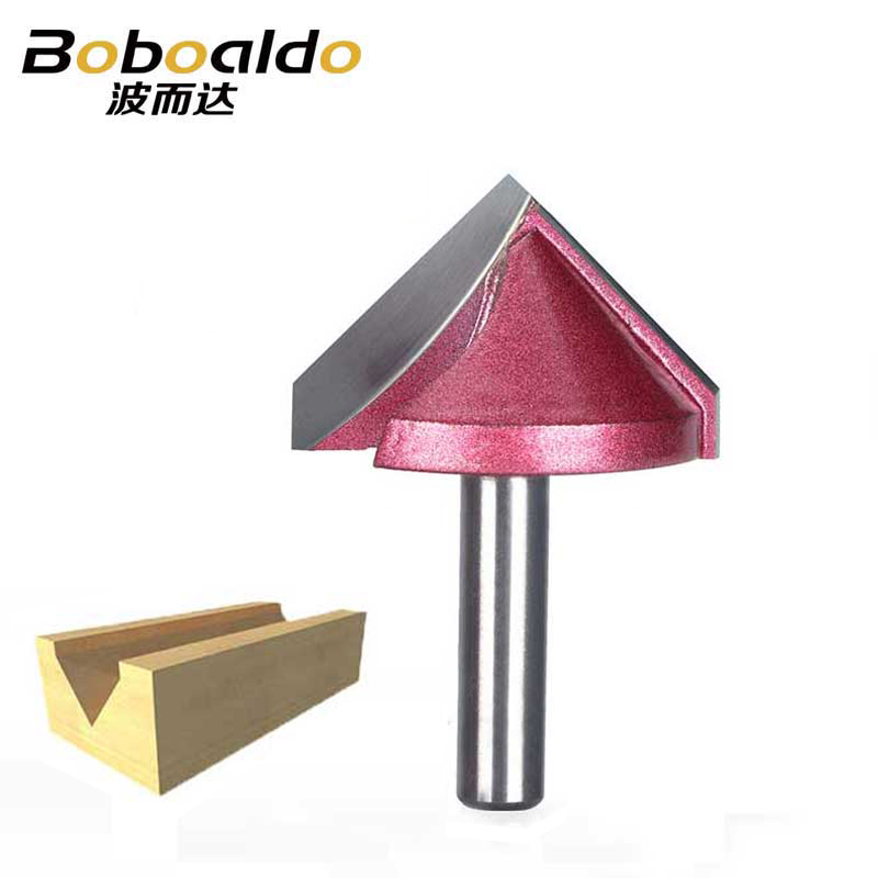 8mm Shank V Groove Bit CNC Solid Carbide End Mill 3D Router Bits Wood 60 <font><b>90</b></font> <font><b>120</b></font> 150 Degree Tungsten Woodworking Milling Cutter image