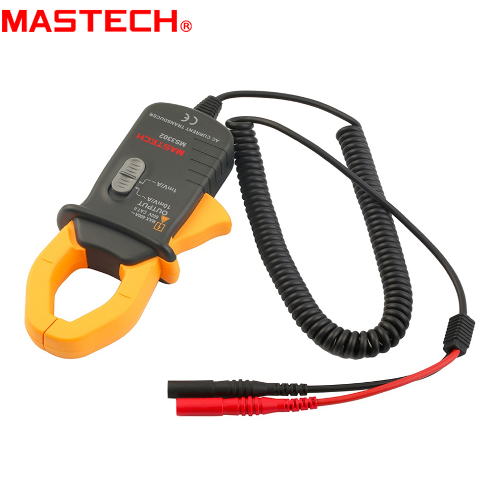 MASTECH MS3302 AC Current Transducer 0.1A-400A a.c. RMS Clamp Meter mas tech pro mini mastech ms3302 ac current transducer 0 1a 400a clamp meter test hot sales