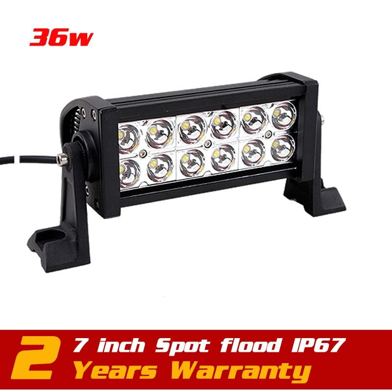 7.5 36W LED Work Light Bar For 12v 24v  Boat  Truck SUV Tractor ATV Offroad LED Fog Light Worklight External Light Save on 72w