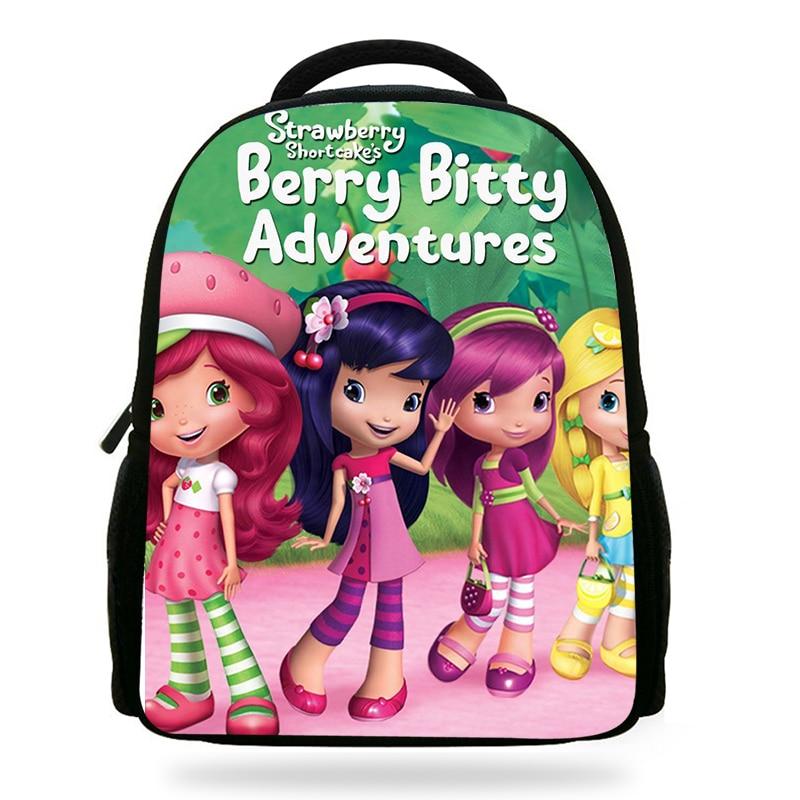 NEW Strawberry Shortcake Kids School Backpack Rucksack Book Bag BADGE