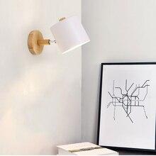 Макарон современный простой светодиодный настенный светильник для спальни ночники ТВ коридорный пролет кухонное крепление освещение Туалет Свет украшения E27