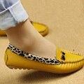 Весна и Осень Квартиры для Женщин Плоский каблук Обувь Мода Leopard Квартиры Женская Обувь Повседневная Мягкие Удобные Мокасины Горячей Продажи