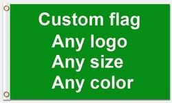 Buon Servizio 3x5ft bandiera Personalizzata 90*150 centimetri Cliente-made bandiera Con Il Bianco Manica Occhielli In Metallo