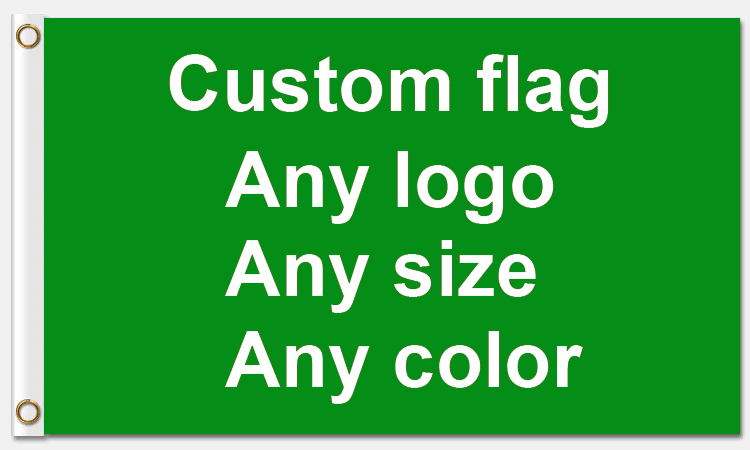 Goede Service 3x5ft Custom vlag 90*150cm Klant gemaakt vlag Met Witte Mouwen Metalen Ringetjes-in Vlaggen, banners en accessoires van Huis & Tuin op  Groep 1