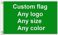 Good Service 3x5ft ที่กำหนดเองธง 90*150 ซม. ลูกค้า - ธงสีขาวแขนโลหะ Grommets