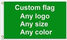 Хороший сервис 3x5ft пользовательский флаг 90*150 см заказной флаг с белым рукавом металлические люверсы