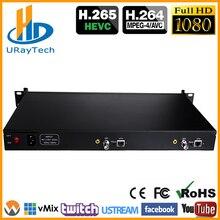 1U стеллаж для выставки товаров HEVC H.265 SD HD 3g SDI к IP HD видеокодер кодирующее устройство телевидения по протоколу Интернета 2 Каналы прямые трансляции RTMP кодер SDI To H.264 H.265