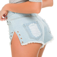 Summer Ripped Women Denim Shorts Casual Sexy Ripped Hole High Waist Hip Shorts for Women Plus Size цена 2017