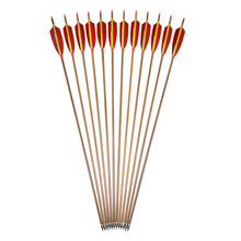 3/6/9pcs Archery 30inch Pure Carbon Arrow Spine 340 Bolt OD 7.6 mm Removable Arrowhead Hunting Accessory