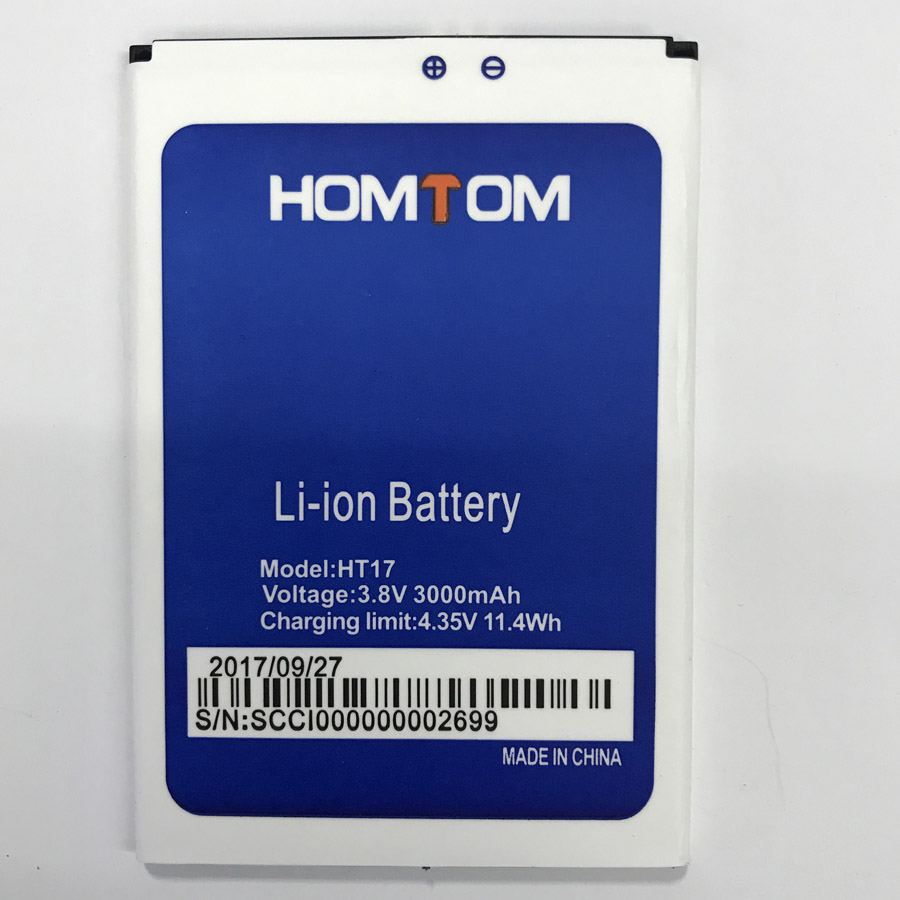NEW 3000mAh Battery For HOMTOM HT17/HT17 PRO Moble Phone+Tracking Number(China)