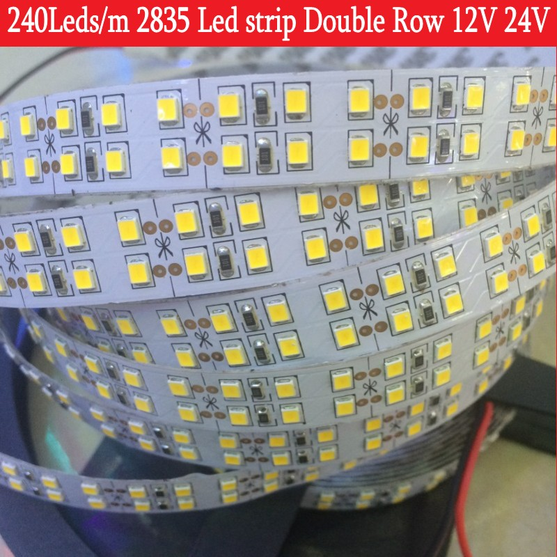 240LEDs/m LED Strip 2835 DC12V 24V 1200Ls