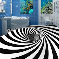 beibehang Custom fresco wallpaper any size high enough to force the black and white whirlpool illusion 3D stereo flooring