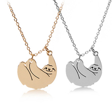 sloth necklaces animal necklace jewelry gift for Animal protector kawaii Slow motion sloth zoo animal fashion necklaces pendants
