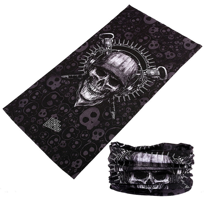 Vintage Motorcycle Skull Sports Mask Buffe Deporte Cycling Bandanas Tube   Headwear   Bicycle Moto Face Shield Neck Warmer Scarf