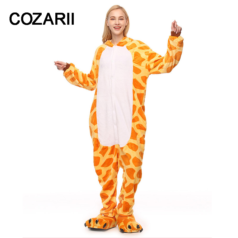 Pajamas Flannel Women Men Pajama Cartoon Unisex Cosplay Sleepwear Homewear Animal onsies Pijama set for Lovers Couples forLover