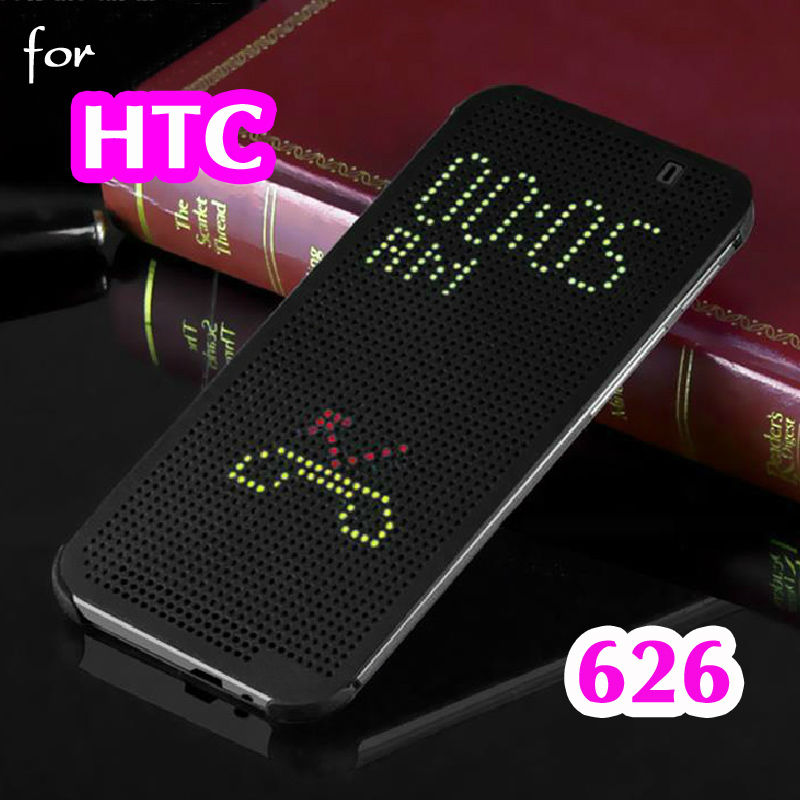 For HTC 626 G Slim Dot Dotted Smart Auto Sleep View Phone Case Silicone Original Flip Cover For HTC Desire 626 G 62