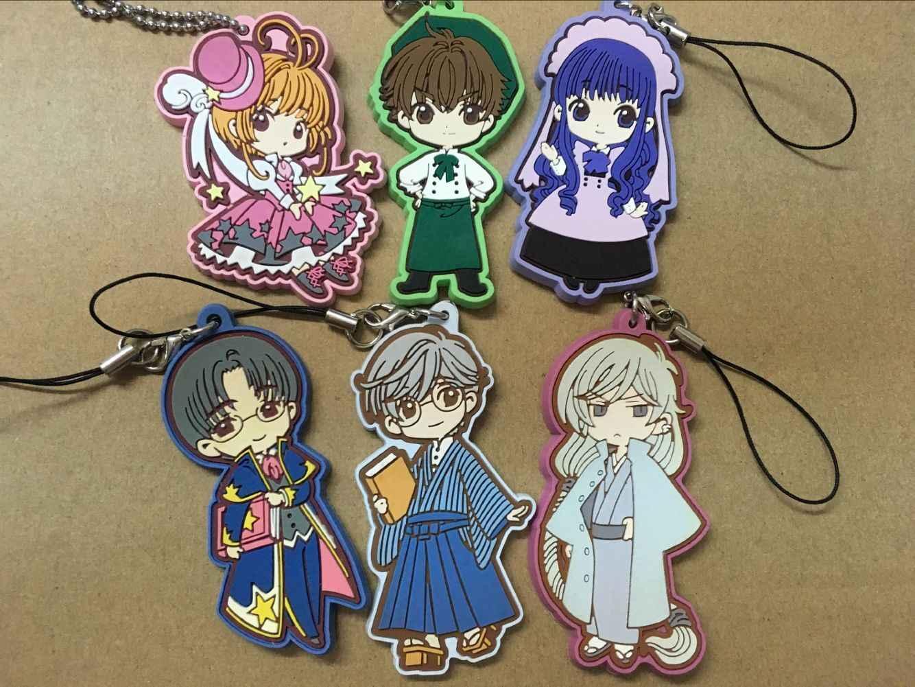 Keychian 1pcs CARDCAPTOR SAKURA Anime Japonês figura Japão Anime Card Captor Sakura Kero Personagem Cheio cinta Keychain