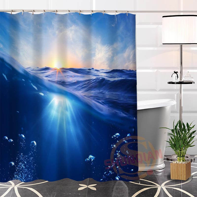Best nice custom water and ocean shower curtain bath - What uses more water bath or shower ...