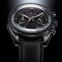 2019 Reef Tiger/RT мужские дизайнерские часы хронограф с датой нейлоновый ремешок светящиеся спортивные часы мужские черные пилотные часы RGA3033
