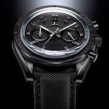 Мужские дизайнерские часы хронограф Reef Tiger/RT с нейлоновым ремешком и календарем, светящиеся спортивные часы, мужские черные часы пилот RGA3033, 2020