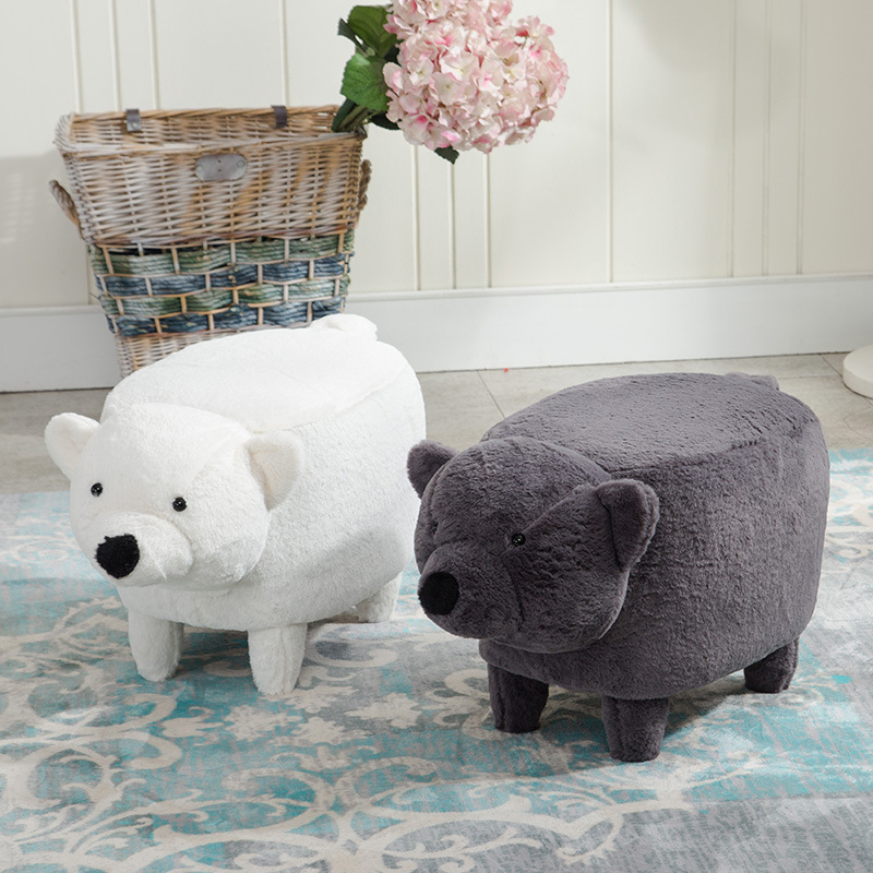2017 Hot Sale Washable The Polar Bear Foot Wooden Stool Sitting Pier Creative Children Sit Stool Lovely Cartoon Animal Storage серьги polina selezneva серьги ps by polina selezneva