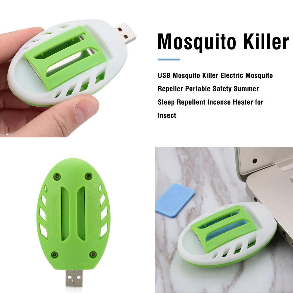 USB Mosquito Killer Electric Mosquito Repeller Portable Safety Summer Sleep Repellent Incense Heater For Insect Pest Control