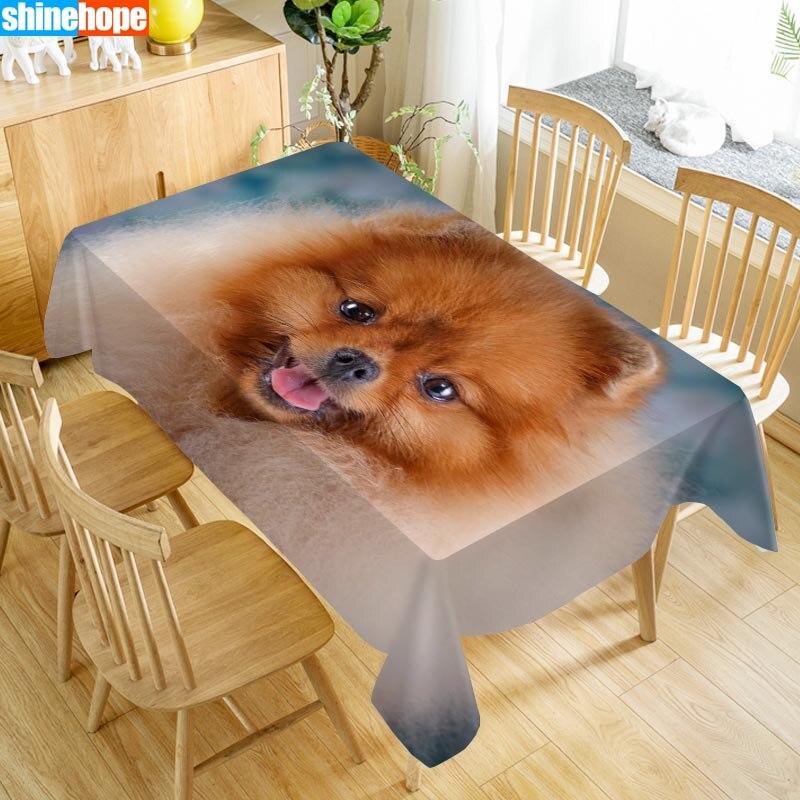 Nach Japanischen Spitz Tisch Tuch Oxford Druck Rechteckigen Wasserdicht Ölbeständiges Tiere Tisch Abdeckung Hochzeit Tischdecke