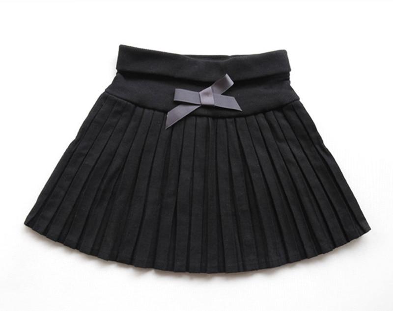 New-2017-Toddler-girls-SpringAutumnwinter-clothing-girls-bust-skirt-thin-woolen-pleated-skirt-blackgray-3T12-wholesale-3