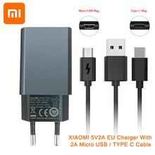 TIỂU Mi Mi 5V2A EU Sạc ĐỒNG BỘ DỮ LIỆU mi cro Cáp USB 2A LOẠI C cho XIAO Mi Mi đỏ Mi Note 3 4 5 4C 4s 5 5S 6 5x A1 A2 Lite mi X