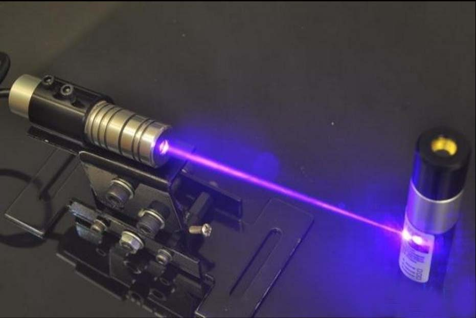 ФОТО 100mW 405nm violet laser module with CROSS beam with power supply and bracket
