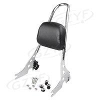 Motorcycle Rear Passenger Sissy Bar Backrest Bracket For Harley Davidson XL883C R XL1200R C S XLH883